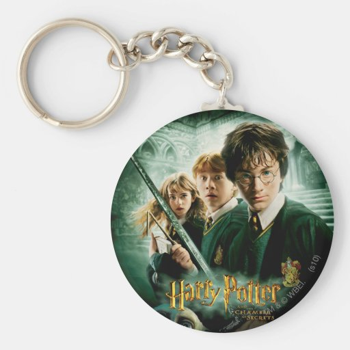 Harry Potter Ron Hermione Dobby Group Shot Key Chain