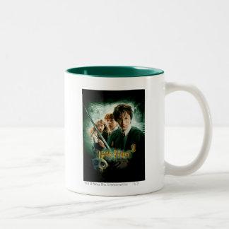 Harry Potter Ron Hermione Dobby Group Shot Two-Tone Coffee Mug