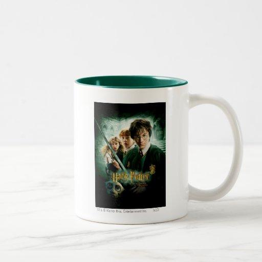 Harry Potter Ron Hermione Dobby Group Shot Two-Tone Mug