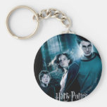 Harry Potter Ron Hermione In Forest Basic Round Button Key Ring