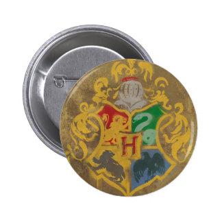 Harry Potter | Rustic Hogwarts Crest 6 Cm Round Badge