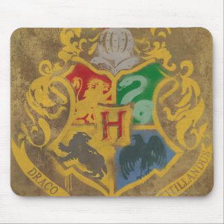 Harry Potter   Rustic Hogwarts Crest Mouse Mat