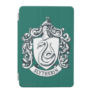 Harry Potter | Slytherin Crest - Black and White iPad Mini Cover