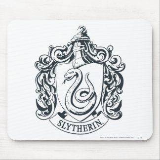 Harry Potter | Slytherin Crest - Black and White Mouse Mat