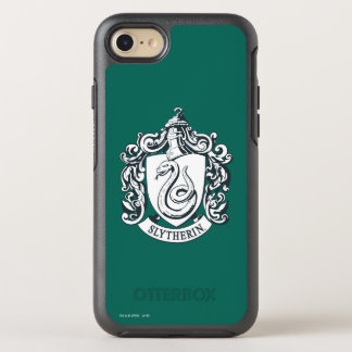 Harry Potter | Slytherin Crest - Black and White OtterBox Symmetry iPhone 8/7 Case