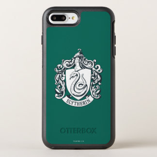 Harry Potter | Slytherin Crest - Black and White OtterBox Symmetry iPhone 8 Plus/7 Plus Case