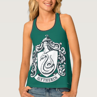 Harry Potter | Slytherin Crest - Black and White Tank Top