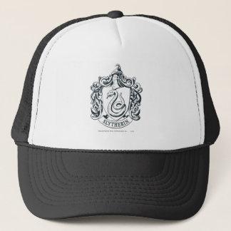 Harry Potter | Slytherin Crest - Black and White Trucker Hat