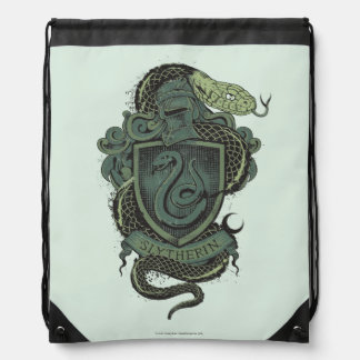 Harry Potter  | Slytherin Crest Drawstring Bag