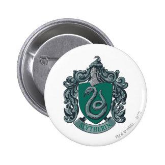 Harry Potter   Slytherin Crest Green 6 Cm Round Badge