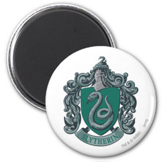 Harry Potter   Slytherin Crest Green 6 Cm Round Magnet