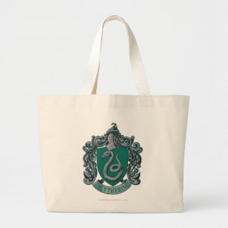 Harry Potter | Slytherin Crest Green Large Tote Bag