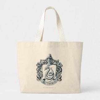 Harry Potter | Slytherin Crest - Ice Blue Large Tote Bag