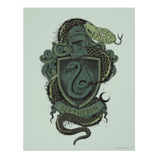 Harry Potter | Slytherin Crest Poster