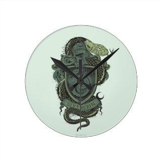 Harry Potter | Slytherin Crest Round Clock