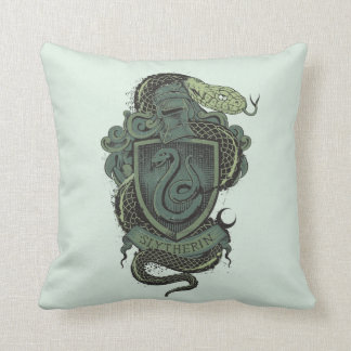 Harry Potter    Slytherin Crest Throw Pillow