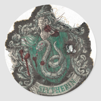 Harry Potter | Slytherin Crest - Vintage Classic Round Sticker