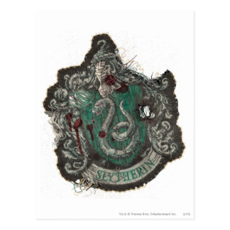Harry Potter | Slytherin Crest - Vintage Postcard