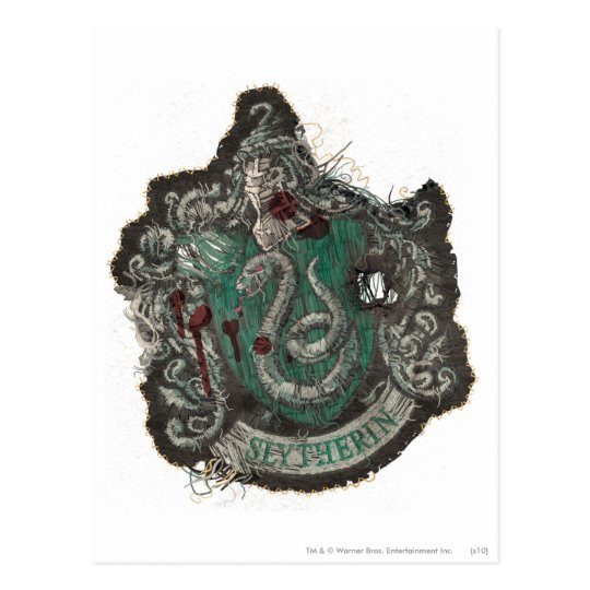 Harry Potter | Slytherin Crest - Vintage Postcard