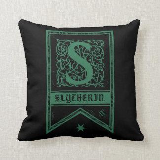 Harry Potter   Slytherin Monogram Banner Cushion