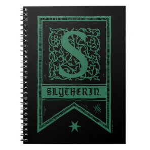 Harry Potter | Slytherin Monogram Banner Notebook