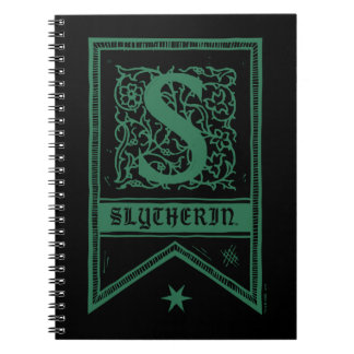 Harry Potter | Slytherin Monogram Banner Spiral Notebook