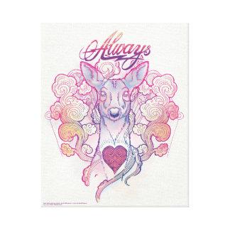 "Harry Potter Spell | ""Always"" Doe Patronus Canvas Print"