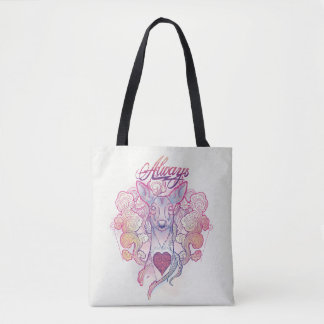 "Harry Potter Spell | ""Always"" Doe Patronus Tote Bag"