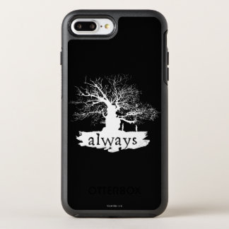 Harry Potter Spell   Always Quote Silhouette OtterBox Symmetry iPhone 7 Plus Case
