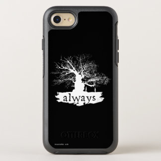 Harry Potter Spell | Always Quote Silhouette OtterBox Symmetry iPhone 8/7 Case