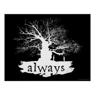 Harry Potter Spell | Always Quote Silhouette Poster
