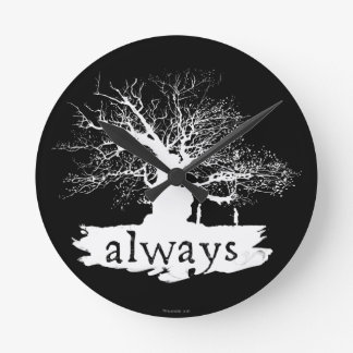 Harry Potter Spell | Always Quote Silhouette Round Clock