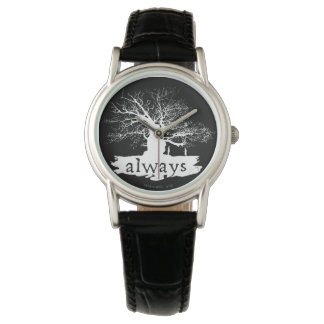Harry Potter Spell | Always Quote Silhouette Wrist Watches
