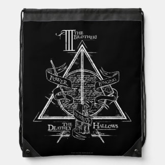 Harry Potter Spell | DEATHLY HALLOWS Graphic Drawstring Bag