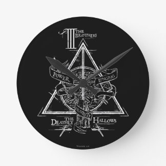 Harry Potter Spell | DEATHLY HALLOWS Graphic Round Clock