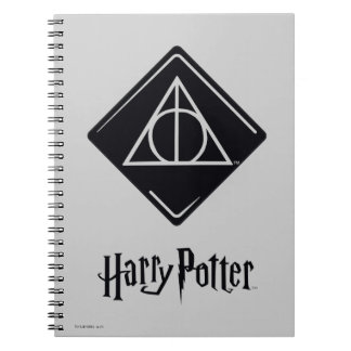 Harry Potter Spell | Deathly Hallows Icon Spiral Notebooks