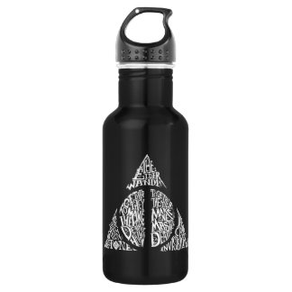 Harry Potter Spell | DEATHLY HALLOWS Typography Gr 532 Ml Water Bottle