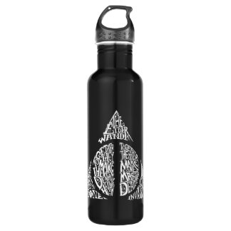 Harry Potter Spell | DEATHLY HALLOWS Typography Gr 710 Ml Water Bottle