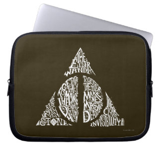 Harry Potter Spell | DEATHLY HALLOWS Typography Gr Laptop Sleeve
