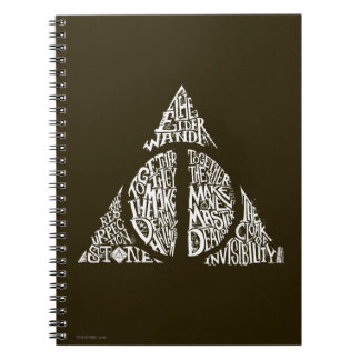Harry Potter Spell | DEATHLY HALLOWS Typography Gr Notebook