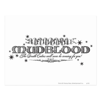 Harry Potter Spell | Filthy Mudblood Postcard