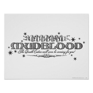 Harry Potter Spell | Filthy Mudblood Poster