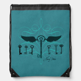 Harry Potter Spell | Flying Keys Drawstring Bag