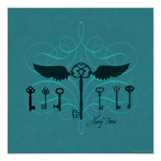 Harry Potter Spell | Flying Keys Poster