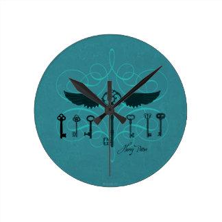 Harry Potter Spell | Flying Keys Round Clock