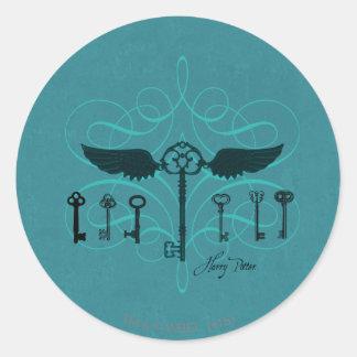 Harry Potter Spell | Flying Keys Round Sticker