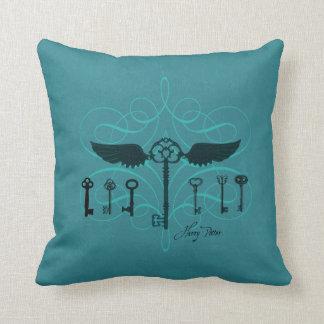 Harry Potter Spell   Flying Keys Throw Pillow