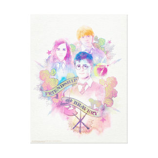 Harry Potter Spell | Harry, Hermione, & Ron Waterc Canvas Print