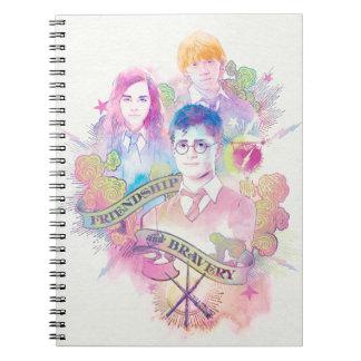 Harry Potter Spell   Harry, Hermione, & Ron Waterc Notebook