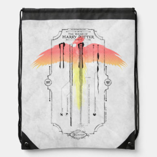 Harry Potter Spell | Harry's Wand Infographic Drawstring Bag